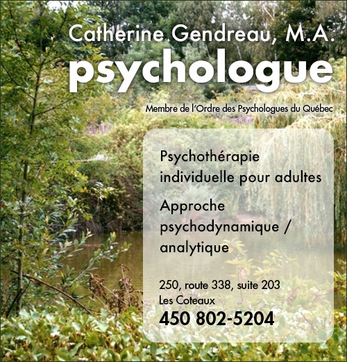 Catherine Gendreau, M.A., psychologue (Annonce)