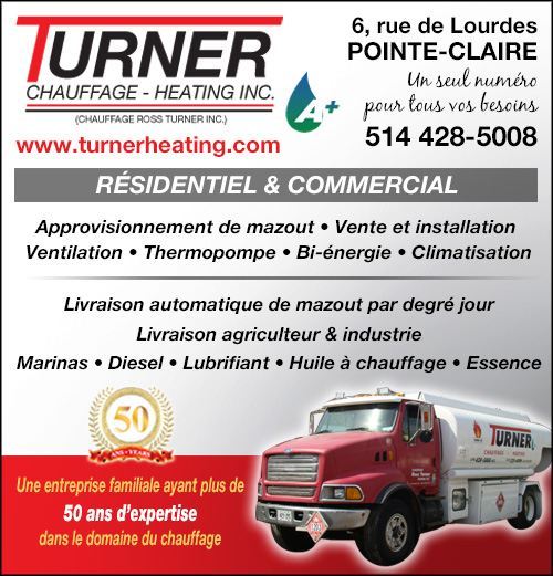 Turner Chauffage - Heating inc. - Turner Chauffage - Heating inc. • Mazout, Huile à chauffage, Fournaise électrique/mazout, Thermopompe - Installation, Réparation, Livraison / Installation, Repairs, Delivery - Fuel, Heating Oil, Furnace electric / oil, Heat pump, Oil tank, Humidifier (514) 428-5008