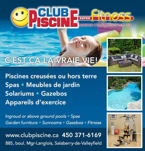 Piscines spas valleyfield qc annuaire 411 for Club piscine valleyfield