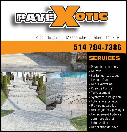 PavéXotic - PavéXotic • www.pavexotic.com • 514-794-7386