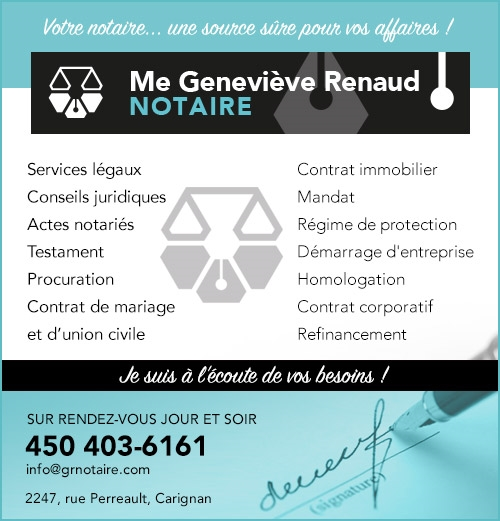Geneviève Renaud Notaire (Annonce)