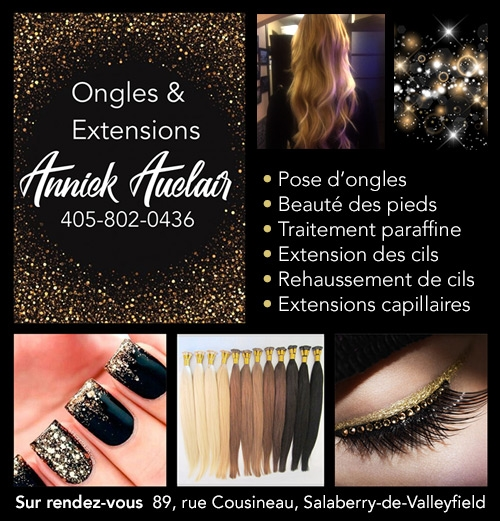Ongles & Extensions Annick Auclair - Ongles & Extensions Annick Auclair • Pose d'ongles • Manucure • Extensions de cils • Rehaussement de cils • Extensions Capilaires • Pedicure