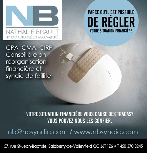 Nathalie Brault Syndic inc. - Nathalie Brault Syndic inc. • Syndics De Faillites / conseils financiers commercial/personnel, Proposition du consommateur à Salaberry-de-Valleyfield (450) 370-3245