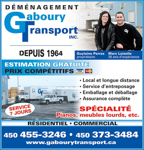 Gaboury Transport inc. - Gaboury Transport Inc • www.gabourytransport.ca • 450-455-3246