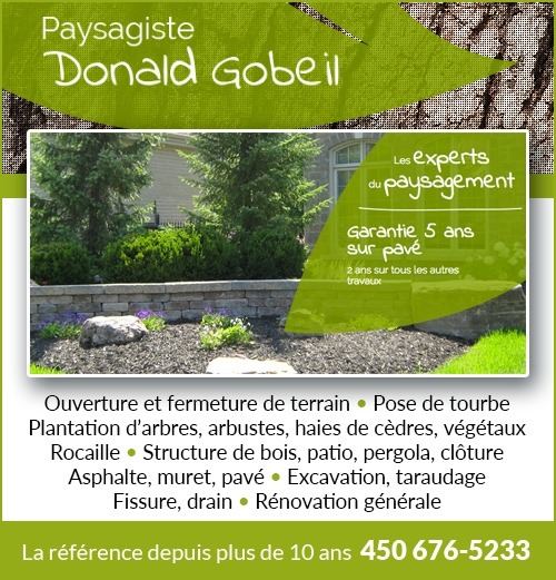 Paysagiste Donald Gobeil enr - Paysagiste Donald Gobeil enr • 450-676-5233