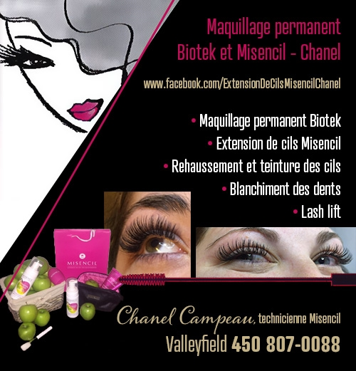 Maquillage Permanent Biotek et Misencil - Chanel - Maquillage Permanent Biotek et Misencil - Chanel • Maquillage permanent • Extension de cils • Pose de cils • Misencil • Rehaussement de cils • Biotek  • Lash lift • Teinture des cils • Blanchiment dentaire • Blanchissage de dent