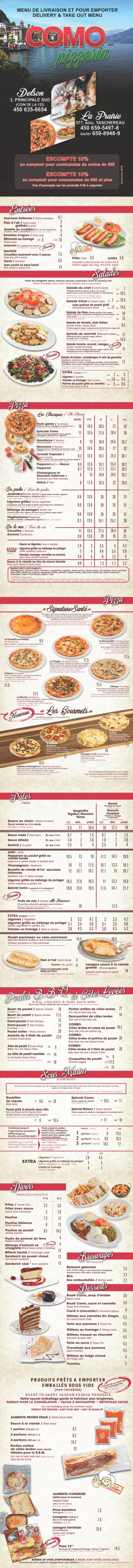 Como Pizzeria (Delson) inc. (Flyer)