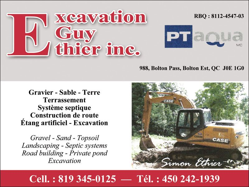 Photo de Les Excavations Guy Ethier Inc - Excavation & Terrassement